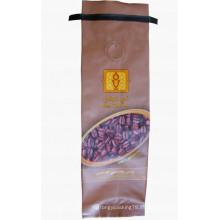 Bolsa de café sellada en T con lazo y válvula de estaño