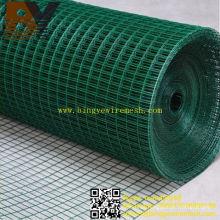 Malla de alambre soldada recubierta de PVC / galvanizado