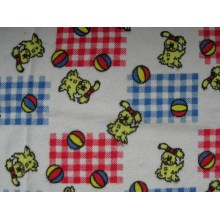 Printed Cotton Flannel Two Sides Brushing 135gsm