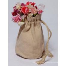 Cânhamo saco de corda de juta pequena com corda de cânhamo (HSBG-004)