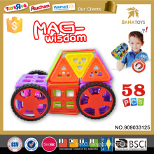 Top sale mag wisdom magnetic toy block 3d car puzzle game