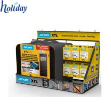 Produção direta da fábrica belo design 4C impressão de cartão reciclável carregador de telefone móvel contador top display stand