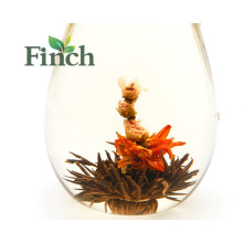 Beneficios para la salud de la nueva llegada Té a base de té en flor negro Bola de té hecha de rosa rosa individual Al-papel de aluminio Paquete de bolsas
