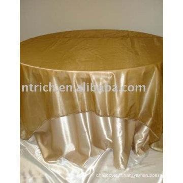 Linge de table tissu satin, tissu de table hôtel, nappe de restaurant