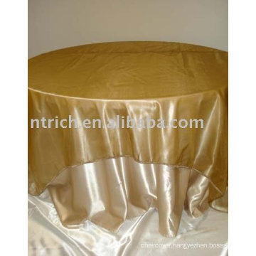 Satin fabric table linen, hotel table cloth,restaurant tablecloth