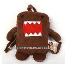 Фабрика оптового животного Shaped плюшевого рюкзака коричневый медведь рюкзак