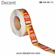 Decent Custom Label Waterproof Vinyl Self Adhesive Logo Sticker Label, Roll Printing Adhesive Product Design Printing Labels Stickers