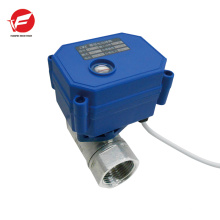 La válvula de control proporcional neumática de flujo 12v más duradera motorizada