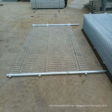 pvc coated curved 180*80 welded wire mesh fence for garden