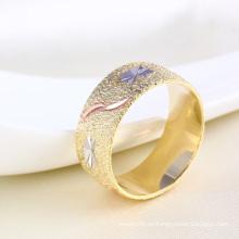 Anillo de dedo de la joyería grabada flor simple 11746 moda simple para mujeres o niñas