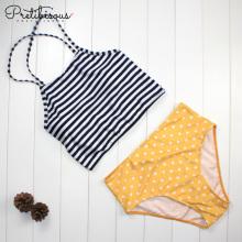 Ladies 2 piece bikini halter top swimsuits