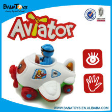 Cute cartoon electric plane with light and sound