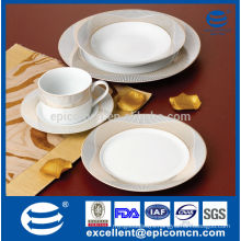 elegant new bone china tableware set with tea cup and saucer with golden decal