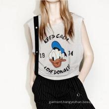 Mens Sleeveless T Shirt Printed Tank Top