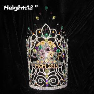 12in Height Big Tall Custom Mardi Gras Pageant Crowns