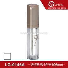Botella de lipgloss vacía de plástico cilíndrico de 10ml
