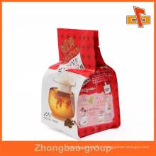 Guangzhou imprimerie et emballage fabricant en gros matériau laminé imprimé personnalisé imprimé gousset côté sac en plastique