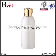 luxury glass face cream bottle fancy lotion bottles with aluminum screw cap