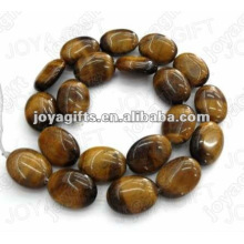 13x18mm natural tigereye pedra plana oval beads