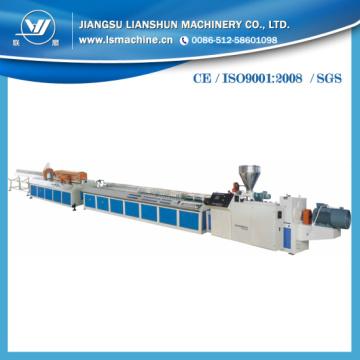 Línea de producción de perfil plástico de PVC WPC