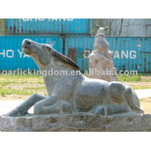 Belle sculpture en pierre de bétail