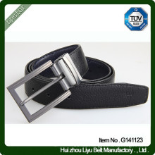 Famous brand pin buckles belt male business and casual cowskin belt square pin buckles