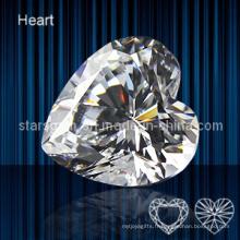 Zircon cubique de forme cardiaque de haute qualité