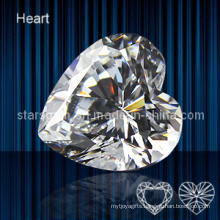 High Quality Heart Shape Cubic Zirconia