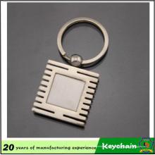 Design de logotipo personalizado oblongo Metal nome sublimação em branco chaveiro