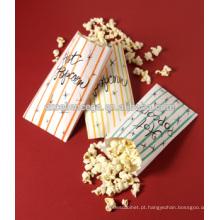 Saco de pipoca de papel kraft Top de vendas