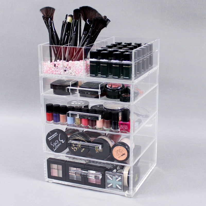 Large Acrylic Makeup Organizer Drawers