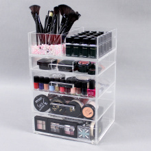 Grote acryl make-up organizer laden