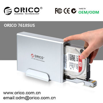 "3.5""SATA HDD external enclosure with hot swap function,ORICO 7618SUS"