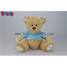 """11 """"Softest Stuffed brinquedo do bebê do urso de Brown brinca o brinquedo com t-shirt azul"""