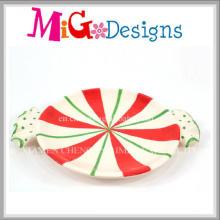 Цена завода Рождественский дизайн керамической плиты Candy и блюдо