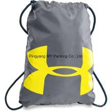 Reciclagem de publicidade personalizada Drawstring sacola de compras