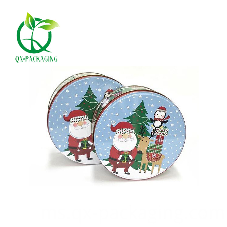 Empty christmas cookie tins