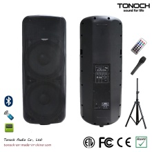 Dual 15 polegadas caixa de som de alto-falante de plástico para o modelo THZ215UB