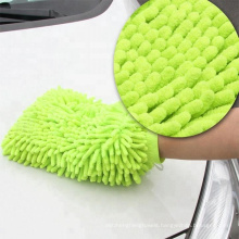 2018 bulk sale long pile microfiber noodle chenille car wash mitt for cleaning