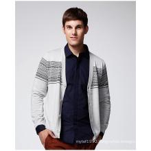 ODM Long Sleeve Patterned Man Cardigan