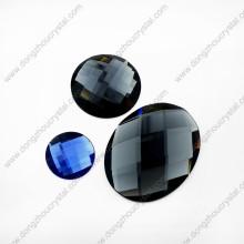 Perles en verre ovales de coupe de machine de prix usine de la Chine pour le vêtement