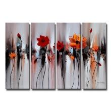 Decoração da parede Pintura a óleo da flor para a sala de estar