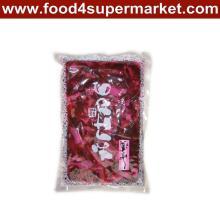 Tranche de concombre aux susnettes marinées Fukujinzuke Sac rose / rouge 300g et 1kg pour le matériel de sushi