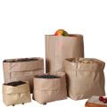 Embalagem personalizada de alimentos baratos Saco de pão de papel Kraft marrom, atacado aceita SACO DE PAPEL ALIMENTAR à prova de graxa