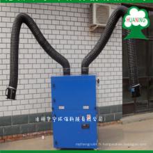 Collecteur de poussière de vapeur de soudure approuvé par OIN avec deux bras de fonction