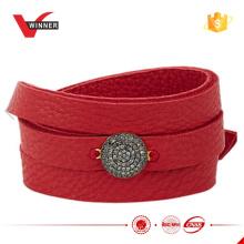Hochwertige Damen Wrap Leder Armband