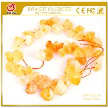 Natural Raw Rough Citrine Crystal Beads no polished