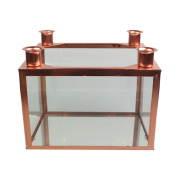 suporte de vela de vidro metal
