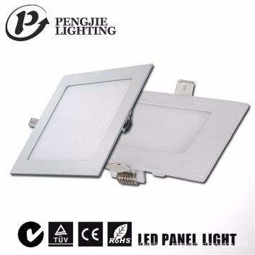 Novo design 6W branco LED luz de painel (quadrado)