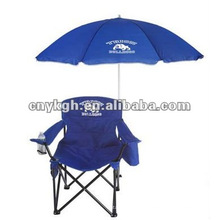 folding camping chair with cooler bag and umbrella